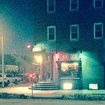 The malapropos ristorante on the corner...