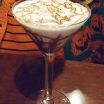 Halloween Pumpkin Spice Martini (served by a zombie)