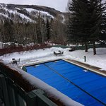 Heated covered pool. Ask the personnel so the uncovred for your use.