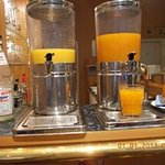 Fresh fruit juice and sparkling water