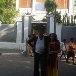 Infront of Sri Aurobindo Ashram