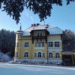 Hotel Zamecek; klein laagje sneeuw maakt het nog mooier