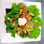 Salade aux saumon