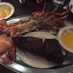 Nova Scotia lobster and NY Strip