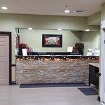 reception desk, Country Inn & Suites, Tunnel Rd, Asheville, NC Dec 2016