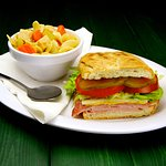 Our Cuban Sandwich and soup
