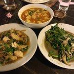 Burmese dishes at Casa Mia, Mae Sot
