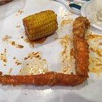 My king crab leg and corn
