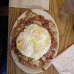 WWI, Corned Beef Hash w/eggs