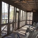 Screened porch with entrance from bedroom 2