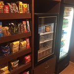 Snacks also availbale 24 hrs. Bottom shelf in Frig. is free water for guests.