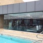 Gym facing the pool