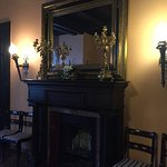 Downsatairs hall fireplace, one of many..