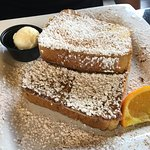 Simple French toast. Thick and fluffy.
