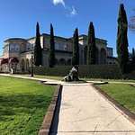 Approaching Farrari Carano winery along their beautifully landscaped walk way.