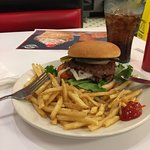My steak burger and fries at steak and shake