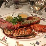 Delicious lobster at Brasserie Max by the lobby