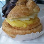 Pastry with custard and bavarian cream