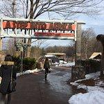Seneca Park Zoo - entrance to the Seneca Trail