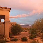 The desert displays dramatic color. Entry to B & B