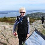 on the windswept summit