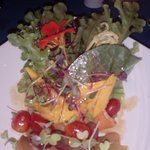 fabulous salad with some edible flowers