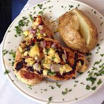 Chicken with baked potato
