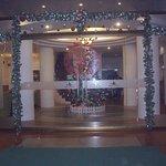 正面玄関クリスマス飾りつけ