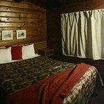separate bedroom of 2 bedroom cabin.