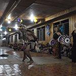 Multipurpose area at ground floor. Mr. Stephen performing the 'Ngajat@Warrior dance'