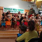 Most of the hula dancers