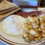 2-Egg Breakfast with bacon and fried potatoes