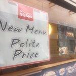 New menu, polite price! Qualicum Sushi, 133 W. 2nd Ave., Qualicum Beach, British Columbia