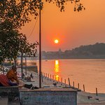 Sunset by the Ganga