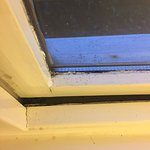 Mould and dirt surrounding windows