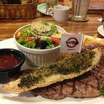 Australian beef - medium rare with bbq sauce
