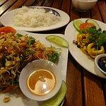 Banana Flower Salad with a Tamarind Squid mains