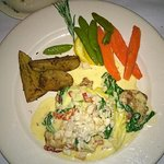 Chef's special - veal with crab in a white sauce