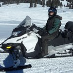 The snowmobile I drove