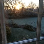 A winter's morning view from our bedroom which was warm and snug