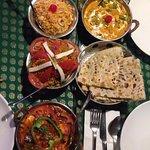 Creamy Navratan Korma, Kashmiri Pulao, Butte- garlic Naan and Veg Biryani
