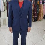 Another happy customer in a 3 piece modern indigo blue suit.