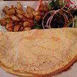 crepe with ham & cheese
