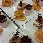 assortiment de desserts pour bien finir le repas