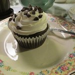 Yummy chocolate cupcake! Just the right size.