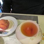 French toast muffin and butterscotch hot tea!