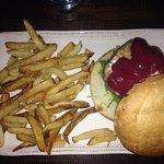 Elk Burger and Fries
