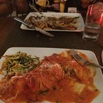 Husband had the Veal Picatta and I had the special Lobster & crab ravioli in vodka sauce
