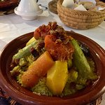 Great food. Preferred eating in the Riad that at the nearby restaurants