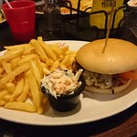 Bacon Cheese burger from main menu - around £12.00